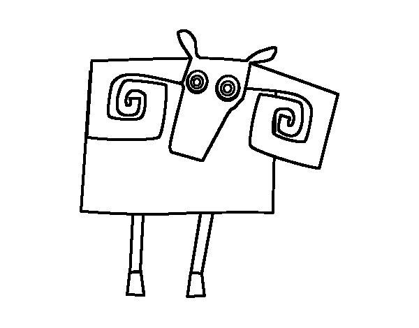 Dibujo de Signo de Aries para Colorear
