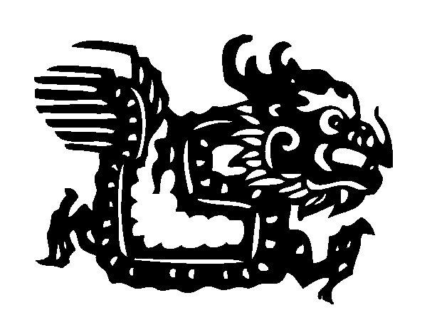 Dibujo de Signo del dragón para Colorear
