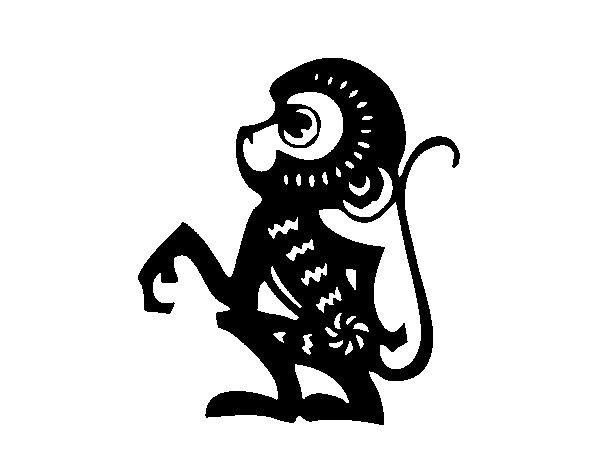 Dibujo de Signo del mono para Colorear - Dibujos.net
