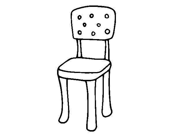 Dibujo de silla con respaldo para colorear for Sillas para dibujar facil