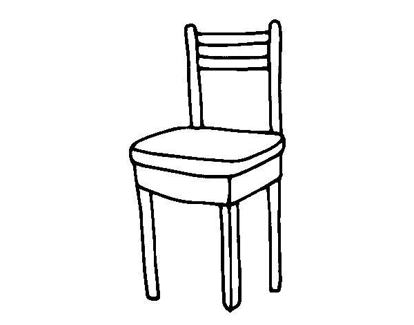 Image gallery dibujo silla for Comedor para colorear