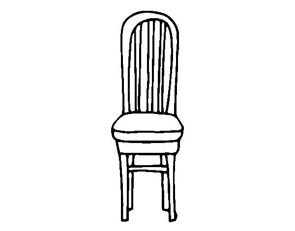 Dibujo de silla de madera para colorear - Pintar sillas de madera ...