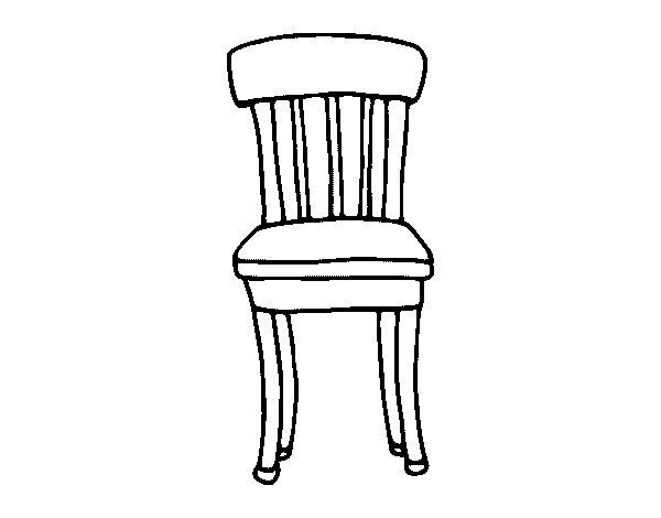 Imagenes de una silla para colorear de madera imagui - Sillas para pintar ...