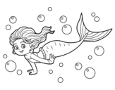 Dibujo de Sirena del mar