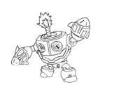 Dibujo de Skylanders Imaginators de Erick para colorear