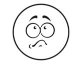 Dibujo de Smiley avergonzado para colorear