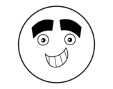 Dibujo de Smiley con cejas grandes para colorear