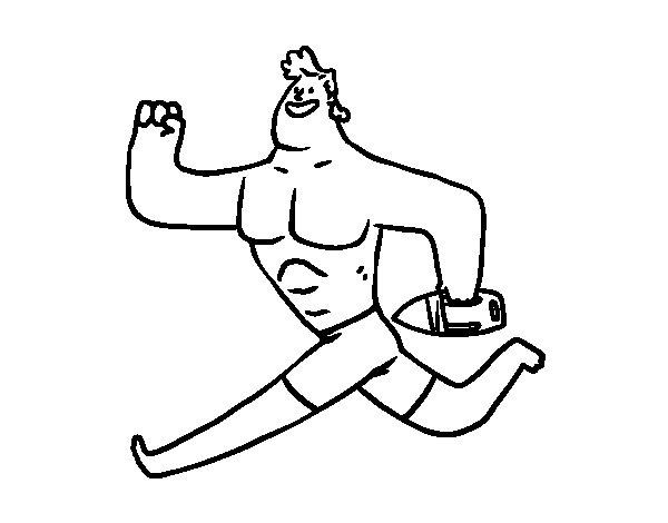 Dibujo de Socorrista corriendo para Colorear