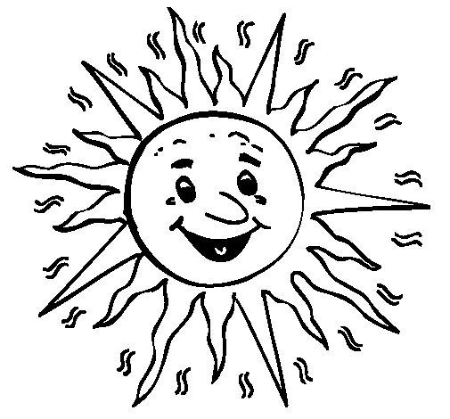 Dibujo de Sol 3a para Colorear
