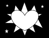 Dibujo de Sol en forma de corazón