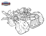Dibujo de Spitfire con Hot Streak para colorear