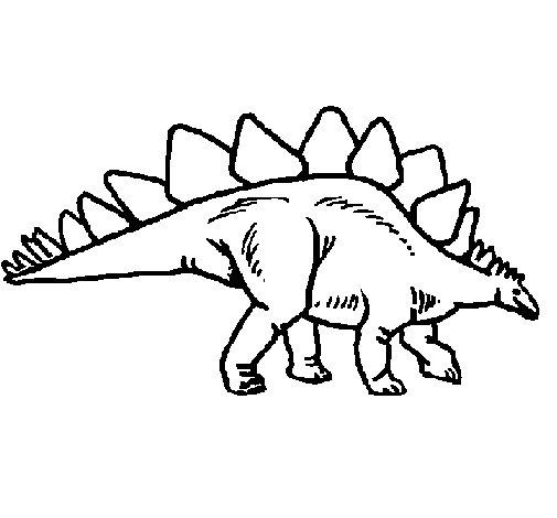 Dibujo de Stegosaurus para Colorear