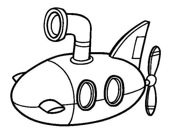 Dibujo de Submarino para Colorear