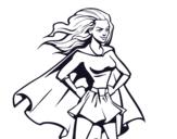Dibujo de Super chica para colorear