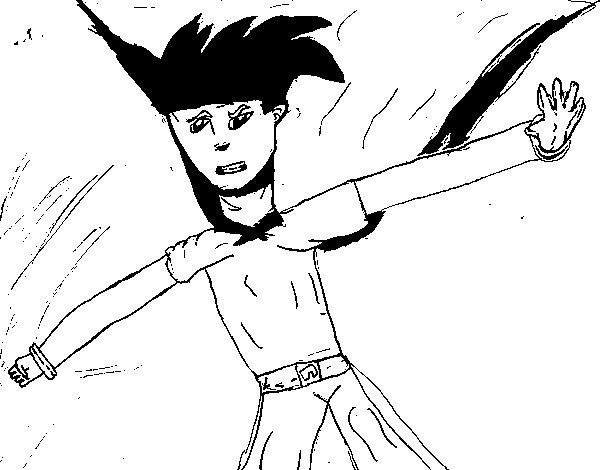 Dibujo de Súper guerrero para Colorear
