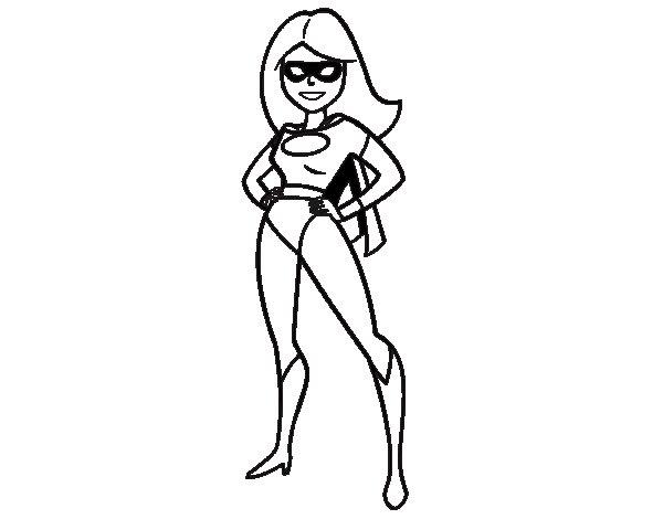 Dibujo de Superheroina para Colorear