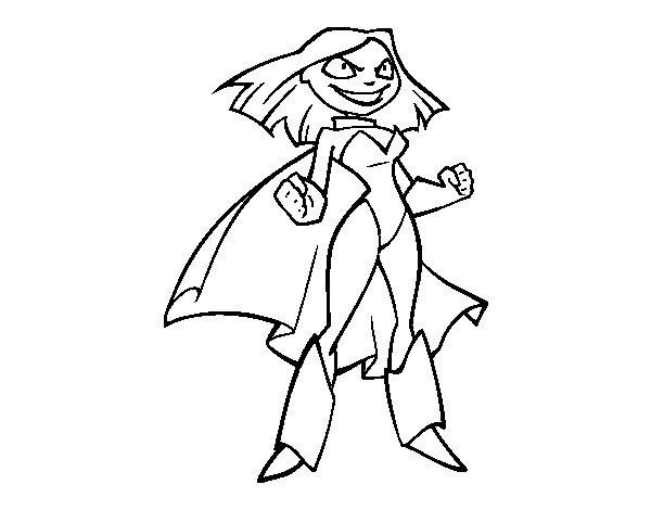 Dibujo de Superniña para Colorear