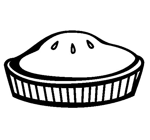 Dibujo de Tarta para Colorear