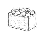 Dibujo de Tarta de arándanos