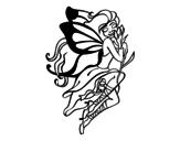 Dibujo de Tatuaje de hada