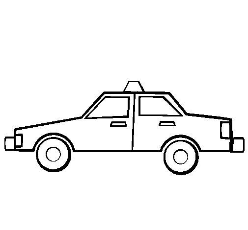 Dibujo de Taxi para Colorear