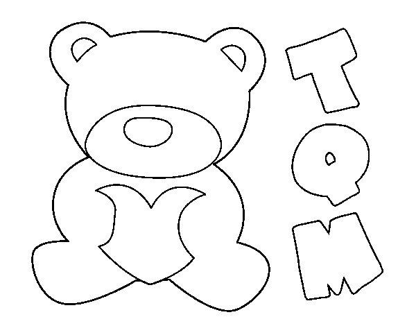 Dibujo de Te quiero mucho para Colorear
