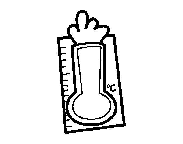 Dibujo de Termómetro para Colorear