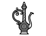 Dibujo de Tetera marroquí para colorear