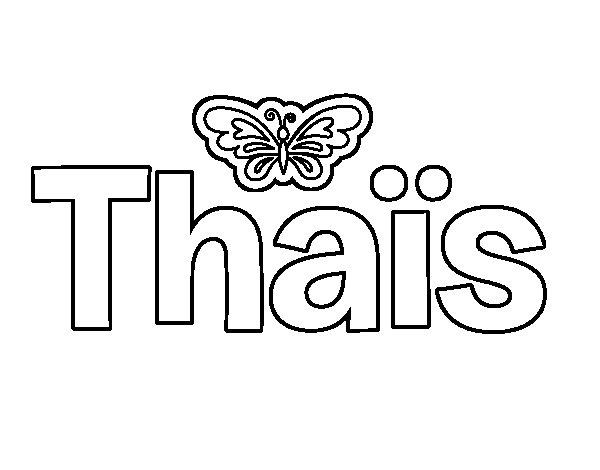 Dibujo de Thais para Colorear