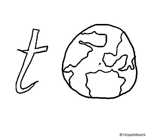 Dibujo de Tierra para Colorear