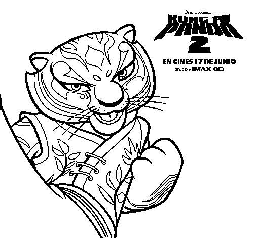 Dibujo de Tigresa 2 para Colorear