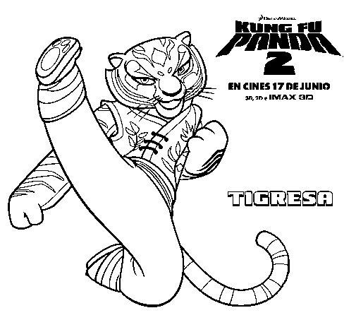 Dibujo de Tigresa para Colorear