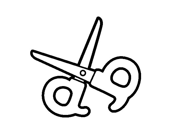 Dibujo De Bolígrafo Infantil Y Libreta Para Colorear: Tijeras Para Imprimir