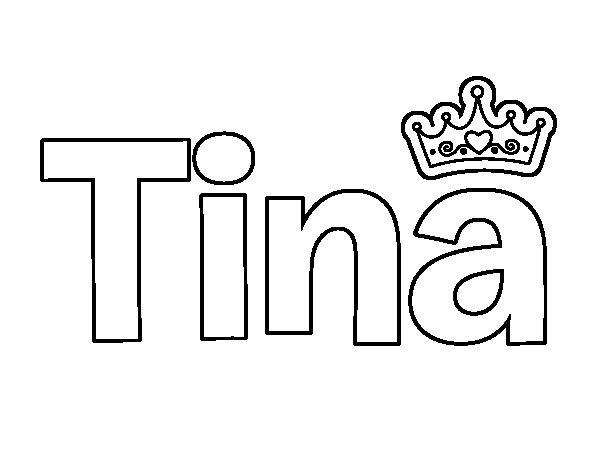 Dibujo de Tina para Colorear