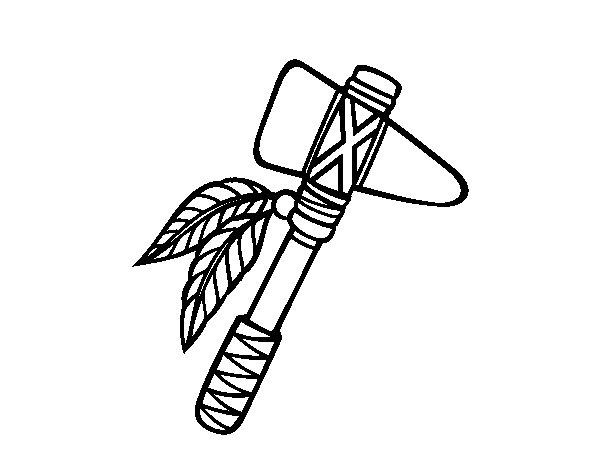 Dibujo de Tomahawk para Colorear