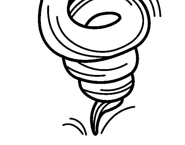 Dibujo de Tornado para Colorear