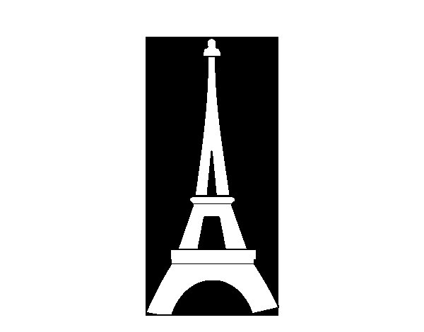 Dibujo de Torre Eiffel para Colorear