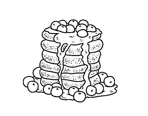 Dibujo de Tortitas para Colorear