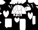 Dibujo de Tortuguita para colorear