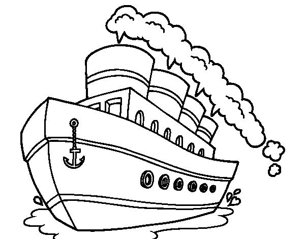Dibujo de Transatlántico para Colorear - Dibujos.net