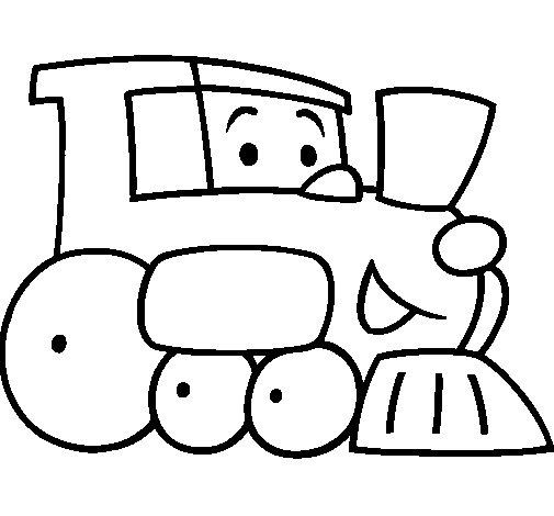 Dibujo de Tren 1 para Colorear