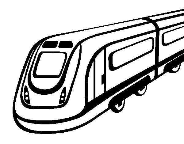Dibujo de Tren de alta velocidad para Colorear