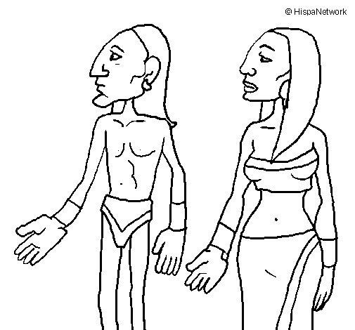 Dibujo de Tribu Itzá para Colorear