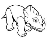 Dibujo de Triceratops II para colorear