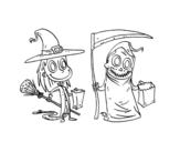 Dibujo de Truco o trato de Halloween
