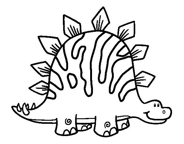 Dibujo De Estegosaurio Bebé Para Colorear Dibujos Net