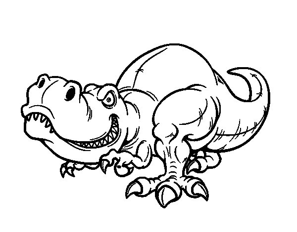 Dibujo de Tyrannosaurus Rex para Colorear