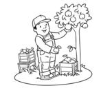 Dibujo de Un agricultor