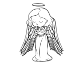Dibujo de Un ángel orando para colorear