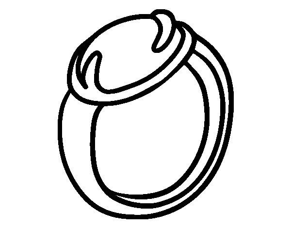 Dibujo de un anillo con piedra preciosa para colorear - Dibujos de piedras ...